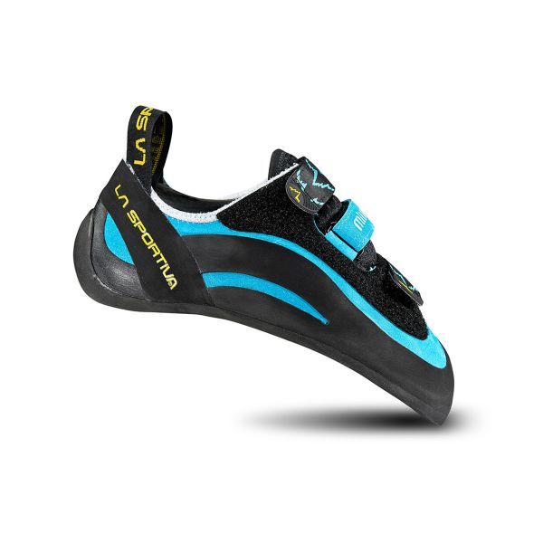 La Sportiva Miura Velcro Women's Teal Sport and Technical Bouldering Rock Climbing Shoe