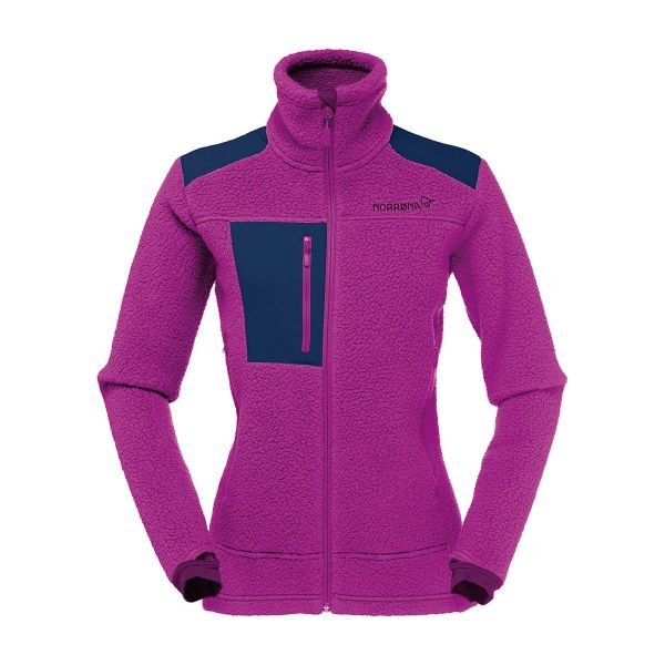Norrona Women's Trollveggen Thermal Pro Fleece Jacket Royal Lush