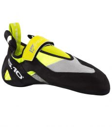 downturned climbing shoe