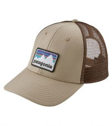 Patagonia Shop Sticker Patch LoPro Trucker Hat (El Cap Khaki)