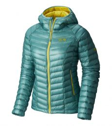 Mountain Hardwear Ghost Whisperer Down Hooded Jacket Womens 2017 rock climbing mountaineering alpine lightweight