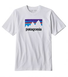 Patagonia Men's Shop Sticker Responsibili-Tee White