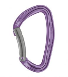 Petzl Djinn Carabiner Bent Gate Purple