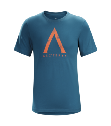 The Arc'teryx Megalith short sleeve tee is soft everyday t-shirt featuring simple Arcteryx branding in the style of a large powd