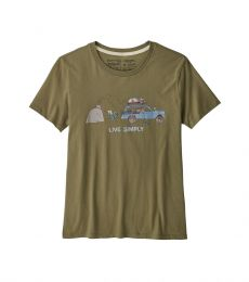 Womens Live Simply Lounger Organic Crew T-Shirt