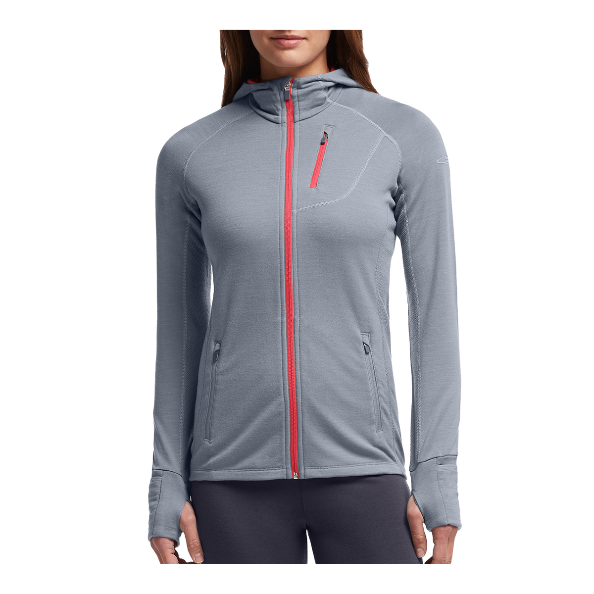 e986085194 Icebreaker Quantum Long Sleeve Zip Hood Womens | Base Layers ...