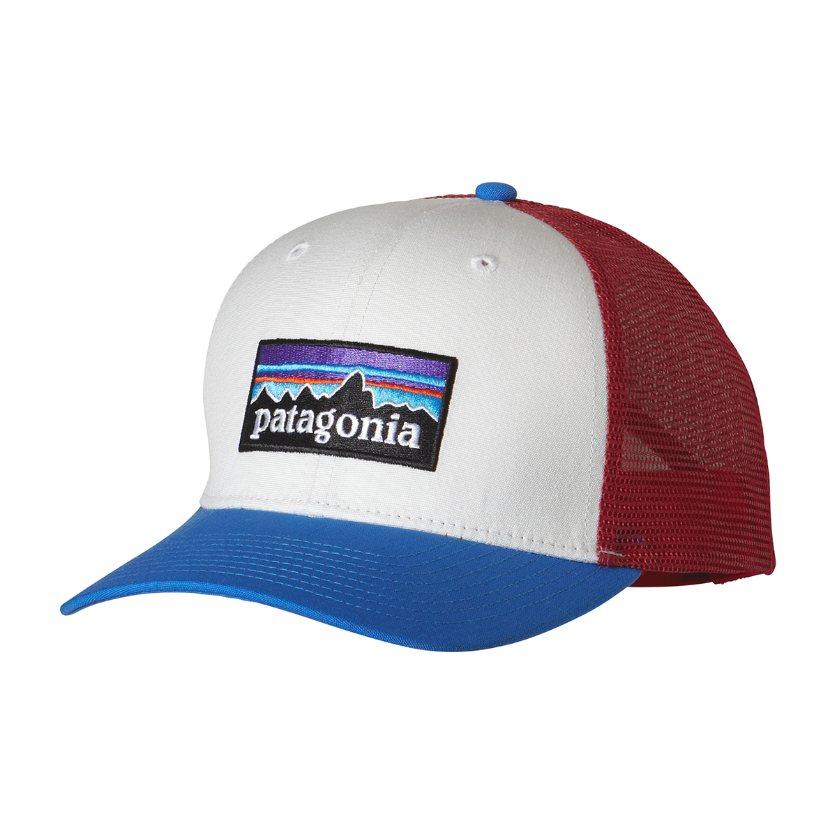 P-6 Logo Trucker Hat (White w  Andes Blue) 10f0b0b53d02