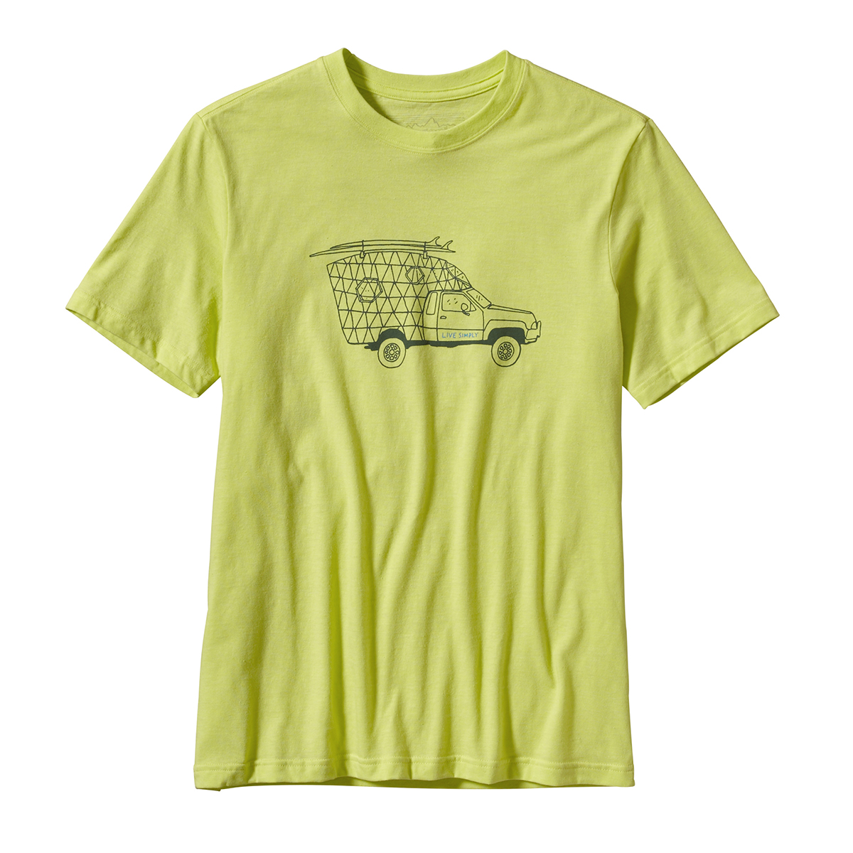 Patagonia live simply surf camper t shirts shirts for Surf shop tee shirts