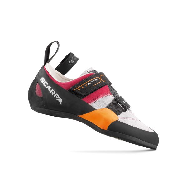 Scarpa Force X Women's Multi-Pitch Trad Approach Rock Climbing Shoe Silver Begonia