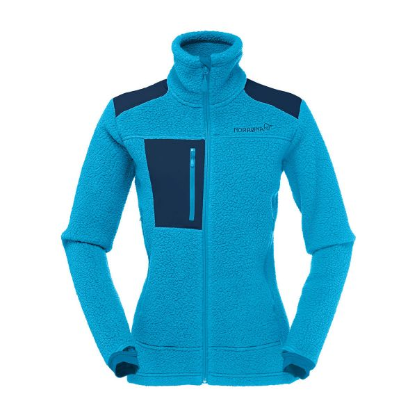 Norrona Women's Trollveggen Thermal Pro Fleece Jacket Blue Moon