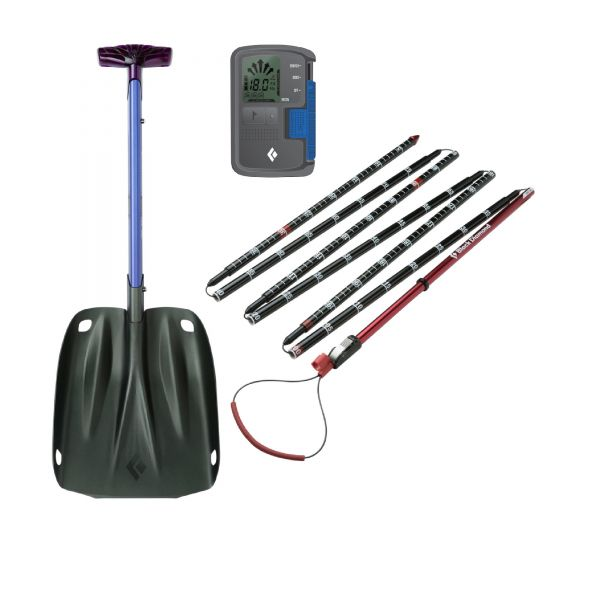 Black Diamond Recon BT avalanche transceiver, probe and shovel set