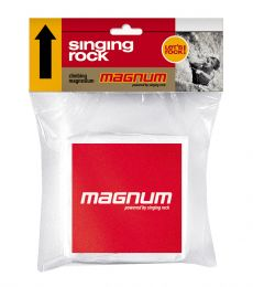 Singing Rock, Magnum Cube, 2015, Chalk and Chalk Bags