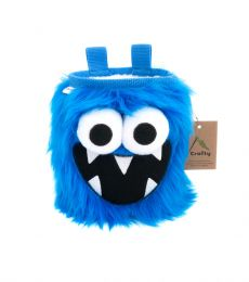Crafty Five Toothed Monster Chalk Bag Blue