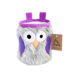 Crafty Climbing Owl Chalk Bag Lavender