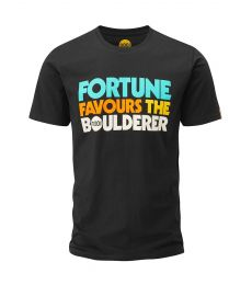 T-Shirt Fortune Favours The Boulderer