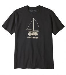 Live Simply Wind Powered Responsibili-Tee Uomo
