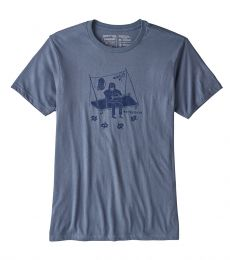 Patagonia Men's Portaledge Concert Organic Cotton T-Shirt Dolomite Blue