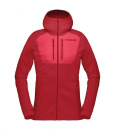 Norrona Women's Lyngen Power Stretch Pro Zip Hoodie Jester Red